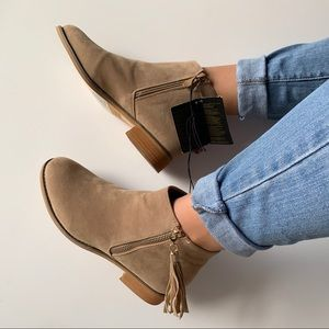 F21 Beige/Tan Ankle Boots